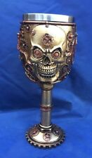 Steampunk Head Gear Goblet Nemesis Now New Boxed Ornament Gothic Skeleton