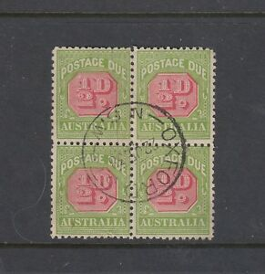 POSTAGE DUES: 1931-37 C of A Wmk, Perf 11 ½d SG D105, very fine used block of 4.