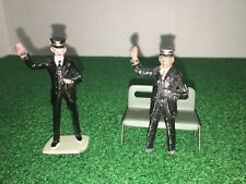 2 Barclay  Figures With Tin Litho Park Bench