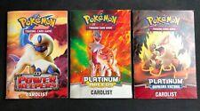 3 Pokemon EX Power Keepers Rulebook/Cardlist Platinum Supreme Victories Arcesus