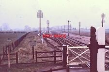 PHOTO  UFTON LEVEL CROSSING 1974 FROM SIGNAL BOX