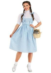 Women's Dorothy Wizard of Oz Long Dress Costume S M L XL 2X (Used)