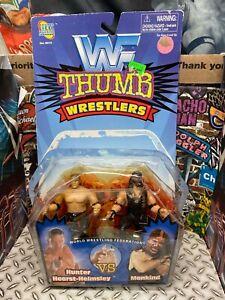 WWF WWE Jakks 1997 Thumb Wrestlers Triple H Mankind Hunter Hearst Helmsley