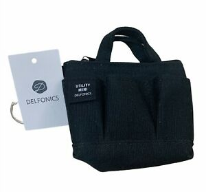 Delfonics Cotton 3 Pockets Mini Carrying Bag/Utility bag Black  (New)