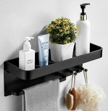 Bathroom Accessories Black Towel Bar Robe Rack Shower Caddy Hook Storage Rack
