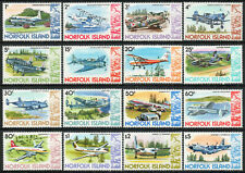 Norfolk Island 1980 QEII Aeroplanes set of mint stamps value to $5  MNH