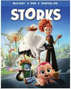 Storks (Blu-ray/DVD 2- Disc, 2016)