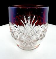 "EAPG ROYAL CRYSTAL TARENTUM RUBY STAINED ATLANTA 4 3/8"" CELERY / SPOONER 1890'S"