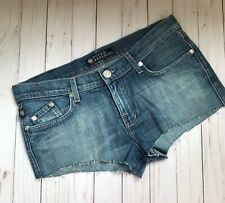 ROCK & REPUBLIC Women's Cut Off Studded Blue Jean Denim Shorts Size 10 Waist 30