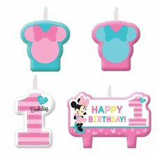 Minnie Mouse 1st/first Birthday Party Candles, pack of 4