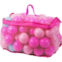 Chad Valley Bag of 100 PINK + Blue Plastic Play Balls For Ball Pool Pit Paddling