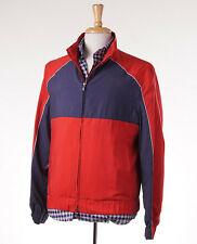 NWT $4750 KITON Red-Navy Lightweight Silk Windbreaker 50/40 (M) Outer Jacket