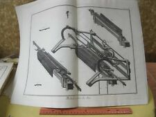 Vintage Print,METIER,Diderot Occupations,Machinery,c1770-80,p4