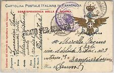 POSTE ITALIANE a SEBENICO - STORIA POSTALE : FRANCHIGIA MILITARE Marina 1919