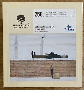 """*NEW SEALED* WENTWORTH """"LS Lowry: Man Lying On.."""" 250 piece Wooden JIGSAW PUZZLE"""