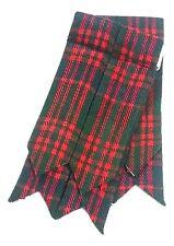 Men's Scottish Kilt Flashes MacDonald Tartan/Scottish Kilt Hose Sock Flashes/ L