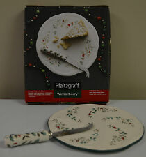 Pfaltzgraff Christmas Winterberry Cheese Tray with Slicer in box $34.00