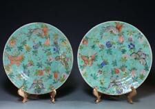 Pair of Chinese Enameled Porcelain Plates,