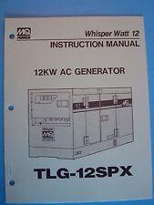 MQ Power WhisperWatt 12 12KW AC Generator TLG-12SPX Instruction Manual