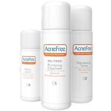 AcneFree 3 Step 24 Hour Acne Treatment Kit - Clearing System w Oil Free Face ...