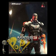 "Mass Effect 3 COMMANDER SHEPARD 10"" Action Figure PLAY ARTS Kai Authentic USA!"