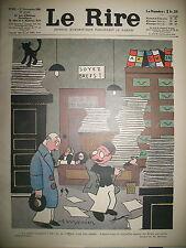 LE RIRE N° 613 CARICATURE SATIRIQUE DESSINS MONIER HERAULT FABIANO HALLMAN 1930