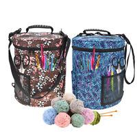 Large Yarn Storage Bag Knitting Crochet Tool Tote Organizer Holder Portable Case