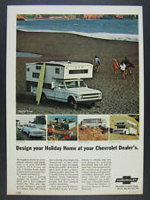 1969 Chevrolet Chevy Pickup Suburban Sportvan Motorhome RV vintage print Ad