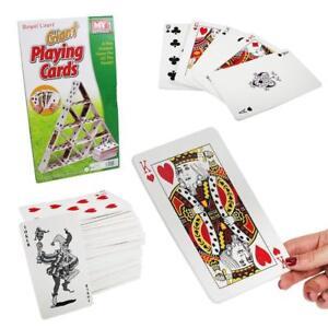 Giant 54pc Garden Game Eva Jumbo Playing Cards In Colour Box Outdoor Fun