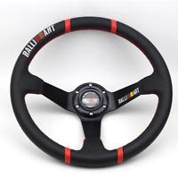 Ralliart Sport Steering Wheel 350mm 14 inch Black Spoke Universal Racing Steerin