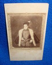 Vintage CDV Photograph Identified Alonso Sanchez Coello Artist to Philip II