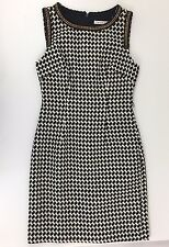 Trina Turk New W/Tags ($318) Sz4 Black/White Houndstooth Cotton Dress Sleeveless