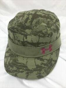 Under Armour Golf Cadet Style Hat Cap Adjustable Camo Pink Womens Ladies