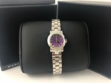 MARC BY MARC JACOBS Amy Silver Toned Purple Dial Ladies Watch MBM3228