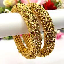 Bridal Polki Bangles Size:2.6 Indian Bollywood Asian Traditional Jewellery