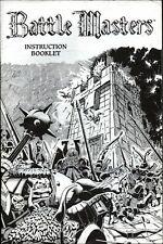 Battle Masters Instructions Rulebook Rule Book Rules Warhammer Fantasy 1992 WFB