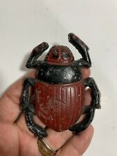 Unusual Antique American Folk Art Cast Iron Insect Bug Beetle Paperweight