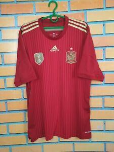 Spain Jersey 2014 2015 Home L Shirt Mens Camiseta Football Soccer Adidas G85279