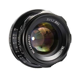 Ultra Wide Angle Lens for Canon Digital Cameras, SLR, Black, 35mm f1.2 Lens