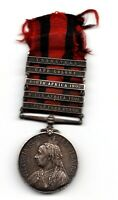 British Queens South Africa Medal 2nd Boer War - 5 Clasps