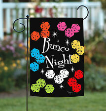 NEW Toland - Bunco Night - Colorful Dice Game Garden Flag