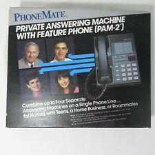 New Vintage PhoneMate PAM 2 Private Answering Machine With Feature Phone 1992