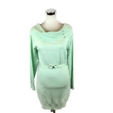 d49c1c6568d Candie s Sweater Dress Pretty Little Thing Dusty Aqua Cowl Jrs XL 13 14