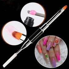 Double Head UV Gel Nail Brush Nail Art Extension Drawing Building Pen Brushes