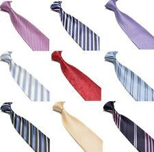 Men Business Formal Ties Striped Woven Patterned  Silk Tie Necktie 9cm Wedding