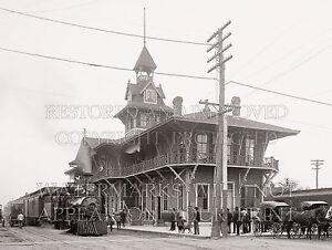 Train depot Pensacola FL L&N Railroad station 1903 photo Louisville Nashville Ry