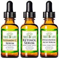 Anti Aging Serum 3-Pack for Face - Vitamin C Serum, Retinol Serum, Hyaluronic Ac