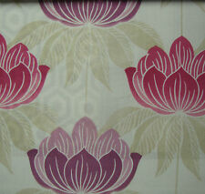 5 Meters Roma Curtain Fabric £16.5/Mtr - Purple Lalique Floral Pattern