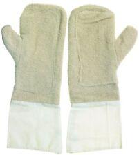 Backhandschuhe, Bäckerhandschuhe, Ofenhandschuhe Baumwolle mit Stulpen 40 cm
