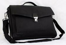 "KENNETH COLE MODERN PORT-SONALITY 16"" LEATHER LAPTOP BRIEF 51715 BLACK"